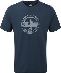 Mountain Equipment Roundel T shirt Herrer, denim blue